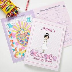 Personalized First Communion Memory Book -..