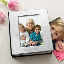 Christmas Gifts for Mom:Engraved Silver Picture Albums For Her