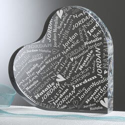Personalized Heart Keepsake - Couple In Love