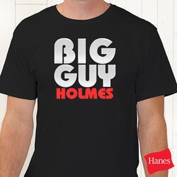 Personalized Gifts for Dad:Personalized T-Shirts - Big Guy And Little..