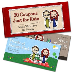 Anniversary Gifts for Girlfriend:Romantic Love Coupons