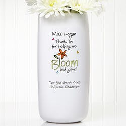 Personalized Teacher Vase - Bloom And Grow