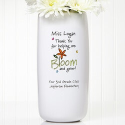 Gifts for Teachers:Personalized Teacher Vase - Bloom And Grow