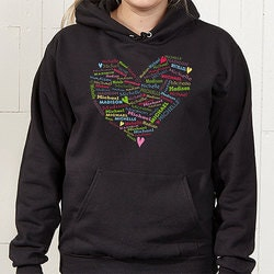 Gifts for Mom:Personalized Hooded Sweatshirts