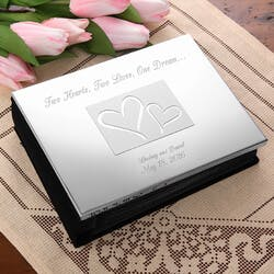 Engraved Silver Wedding Photo Album - Love..