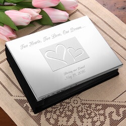 Wedding Gifts:Engraved Silver Wedding Photo Album - Love..