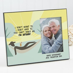 Retirement Gifts:Personalized Retirement Photo Frame - Im..