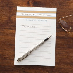 Personalized Gifts (Under $25):Personalized Notepads - Classy Stripes
