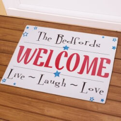 Personalized Live Laugh Love Stars Doormat
