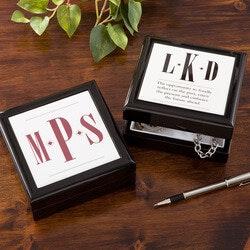 Personalized Keepsake Box For Men - Monogram
