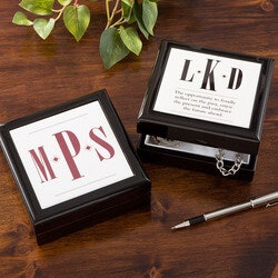 Personalized Gifts for Father In Law:Personalized Keepsake Box For Men - Monogram