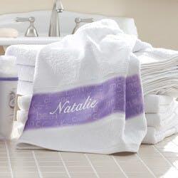 Personalized Bath Towels - Lavendar Spa