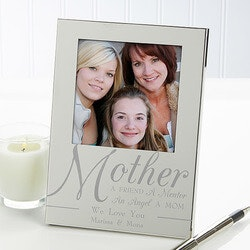 Gifts for Mom:Engraved Silver Picture Frames - For My Mother