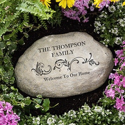 Gardening Christmas Gifts:Personalized Garden Stones - Our Family