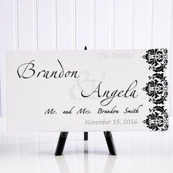 Personalized Wedding Canvas Art - Wedding..