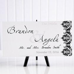 Personalized Wedding Canvas Art - Wedding..
