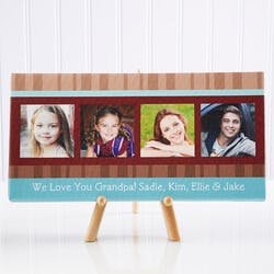 Personalized Photo Canvas Art For Dad -..