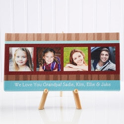 Personalized Gifts for Dad:Personalized Photo Canvas Art For Dad -..