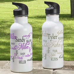 Gifts Under $25:Personalized Water Bottle