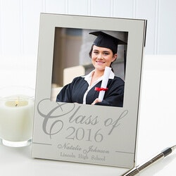 High School Graduation Gifts:Personalized Silver Picture Frames -..