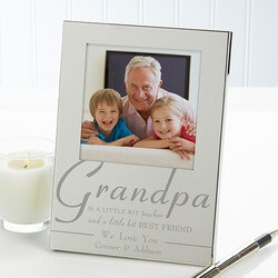 Gifts for Grandfather:Engraved Silver Picture Frames - For My..
