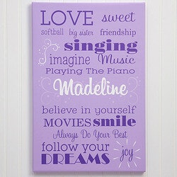 Gifts for Teenage Girls:Girls Personalized Canvas
