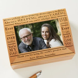 Personalized Gifts for Father In Law:Personalized Photo Keepsake Box - Definition..