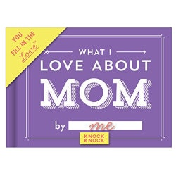Christmas Gifts for Women Under $10:What I Love About Mom Journal