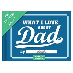Birthday Gifts:What I Love About Dad Journal
