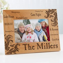Engraved Wood Picture Frames - Family Pride..