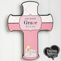Gifts for Baby:Personalized Christening Wall Cross -..