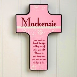 Personalized Gifts for 3 Year Old:Keep Me Safe Personalized 7-Inch Wall Cross