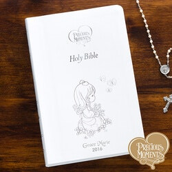 Unique Gifts for 3 Year Old:Precious Moments Personalized Bible For Girls