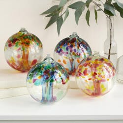 Recycled Glass Tree Globes