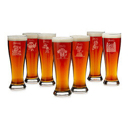 7 Deadly Sins Pilsner Glasses