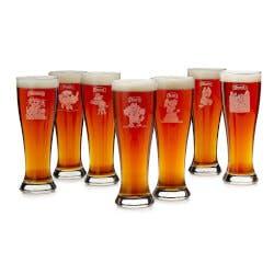 7 Deadly Sins Pilsner Glasses - Set Of 7