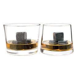 Whiskey Stones & Rocks Glass Set