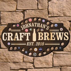 Craft Brews Custom Beer Cap Bar Sign..