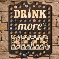 Drink More Beer Bottle Cap Wall Sign..