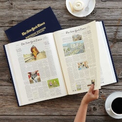 Birthday Gifts for Men:New York Times Custom Birthday Book