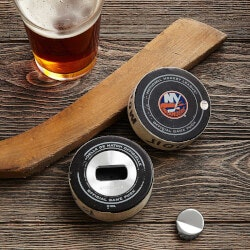 Unique Gifts for Brother:NHL Game Used Hockey Puck Opener