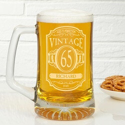 Personalized Gifts for Dad:Personalized Birthday Beer Mugs