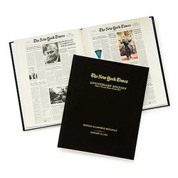 Unique 70th Birthday Gifts:NYT Custom Anniversary Book