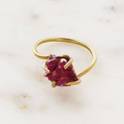 Ruby Crystal Talisman Ring