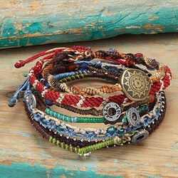 Unusual Gifts (Under $50):Story Of The Earth Set Of 7 Bracelets