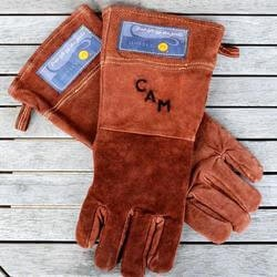 Personalized Gifts for Husband:Personalized Leather Grilling Gloves