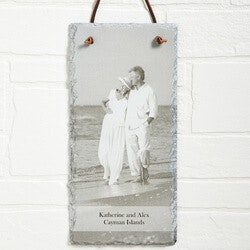 Valentines Day Gifts for Wife:Personalized Photo Slate Wall Plaque