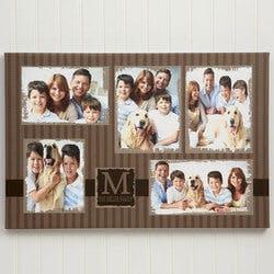 5 Photo Collage Custom Canvas Print - 20x30
