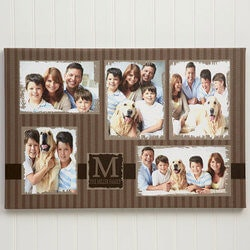 Unusual Gifts (Under $50):5 Photo Collage Custom Canvas Print - 20x30