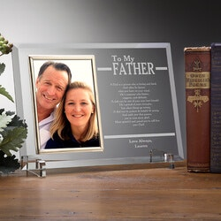 Personalized Gifts for Dad:Engraved Picture Frames For Fathers - To My..